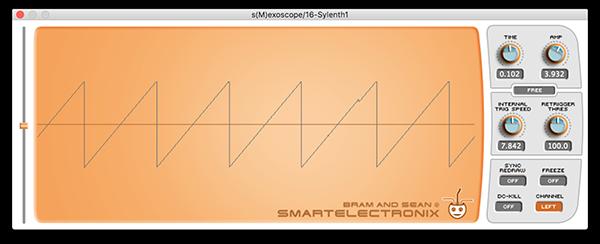 An image of a saw wave run through an oscilloscope.