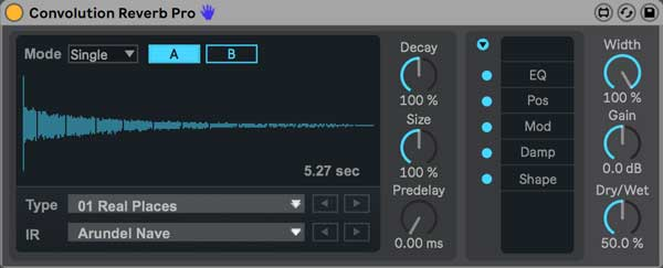 An image of Convolution Reverb Pro.