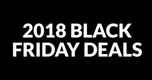 """White text that says """"2018 Black Friday Deals"""" on a black background."""
