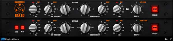 A picture of the Dangerous Music BAX EQ.