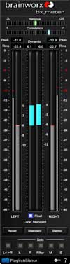 A picture of the Brainworx bx_meter.