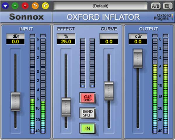 A picture of Sonnox' Oxford Inflator plugin.