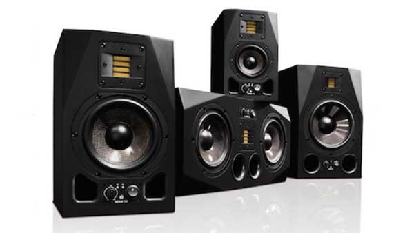 An image of ADAM Audio's AX Series studio monitors.