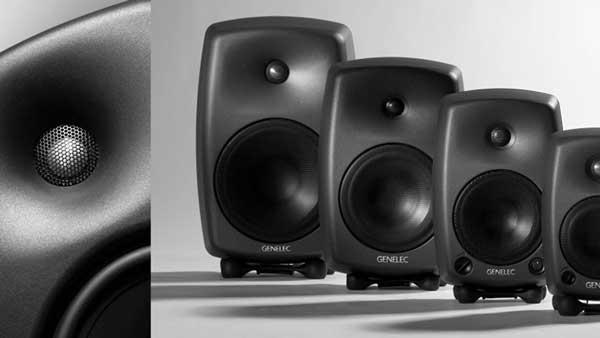 An image of Genelec's 8000 Series studio monitors.