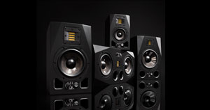 An assortment of studio monitors.