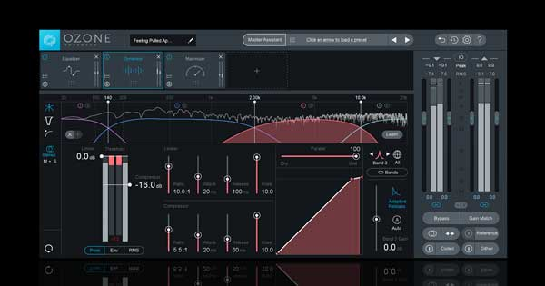 An image of iZotope Ozone's Dynamics module.