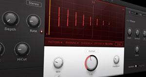 Native Instruments' Replica XT multi-mode delay plugin.