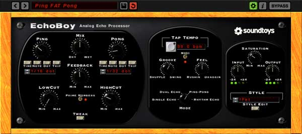 An image of Soundtoys' EchoBoy delay plugin.