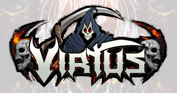 The type font and logo for Virtus.