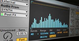 Ableton's Vocoder audio effect.