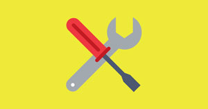 A wrench and screwdriver.