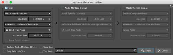 An image of Wavelab Pro 10's Loudness Meta Normalizer