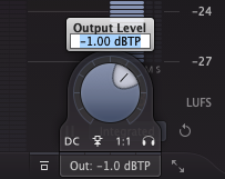 An image of the output level of the Pro-L 2.