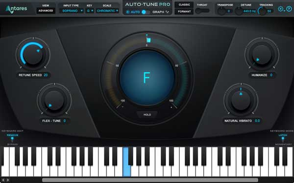 An image of Antares' Auto-Tune Pro VST plugin.