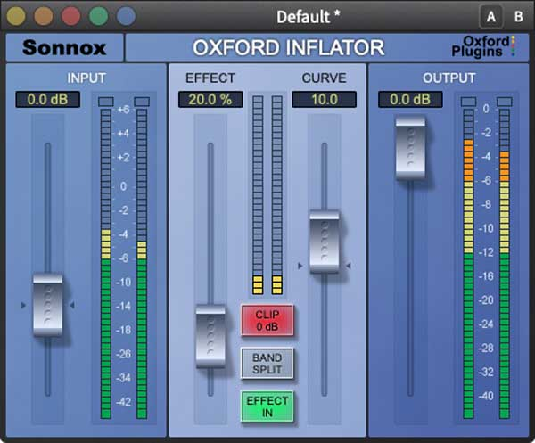 An image of Sonnox's Oxford Inflator VST plugin.