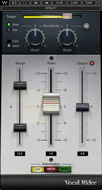 An image of Waves' Vocal Rider VST plugin.