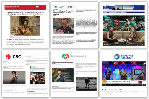 An image of recent press coverage I've arranged for clients.