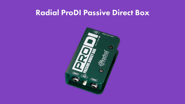 An image of a Radial ProDI passive direct box.