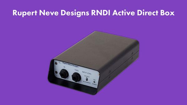 An image of a Rupert Neve Designs RNDI active direct box.