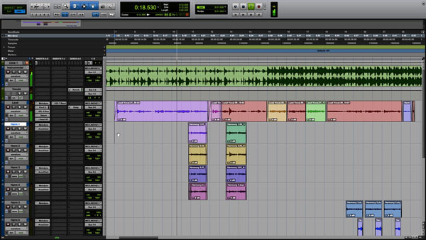 An image of Pro Tools' user interface.