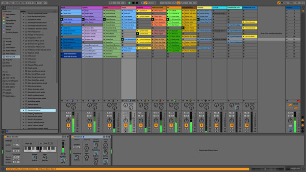 An image of Ableton Live's user interface.