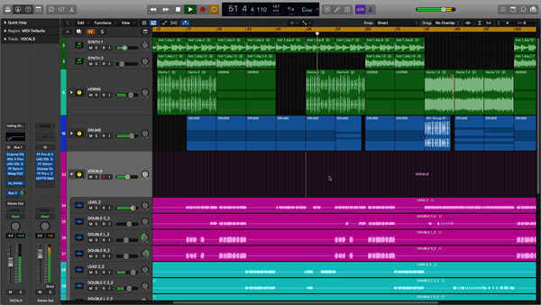 An image of Logic Pro X's user interface.