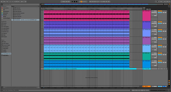 An image of duplicated loops, filling out the duration of the arrangement.