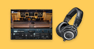 Waves' Abbey Road Studio plugin and a pair of headphones.