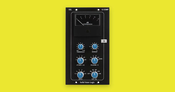 An image of Solid State Logic's G Comp 500 Series Stereo Bus VCA Compressor.