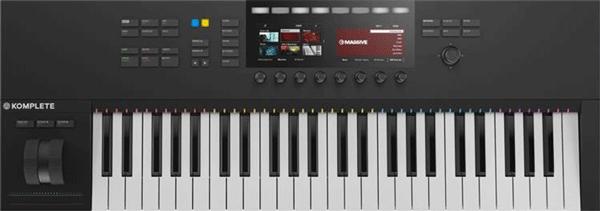An image of the Komplete Kontrol S49 MIDI keyboard.