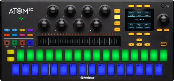 An image of the Atom SQ MIDI keyboard.