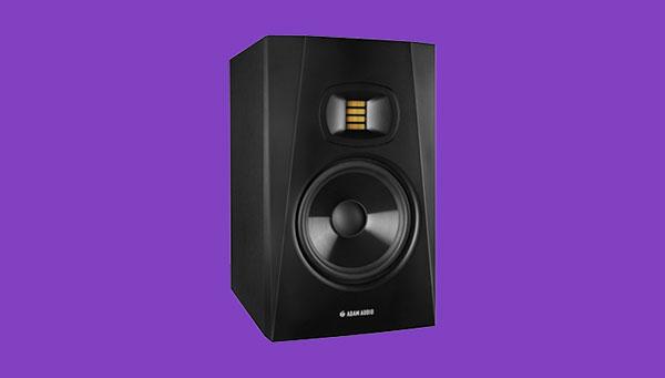 An image of ADAM Audio's T7V studio monitor.