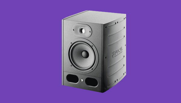 An image of Focal's Alpha 65 studio monitor.