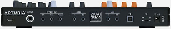 An image of the MicroFreak's ins and outs.