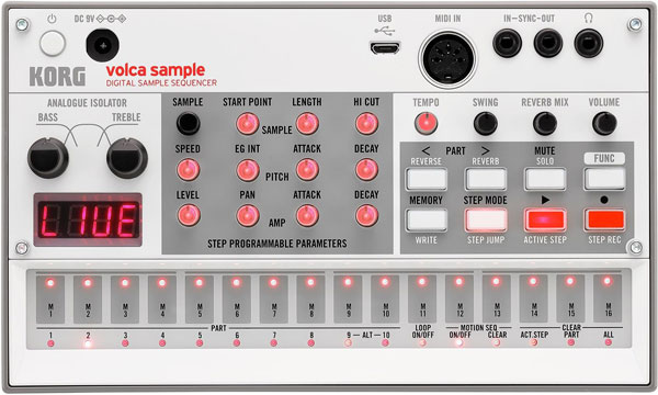 An image of the Korg Volca Sample 2.