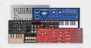Multiple synthesizers.