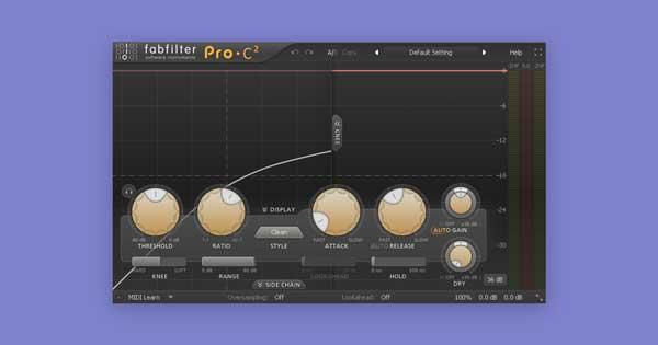 FabFilter's Pro-C 2 compressor plugin.
