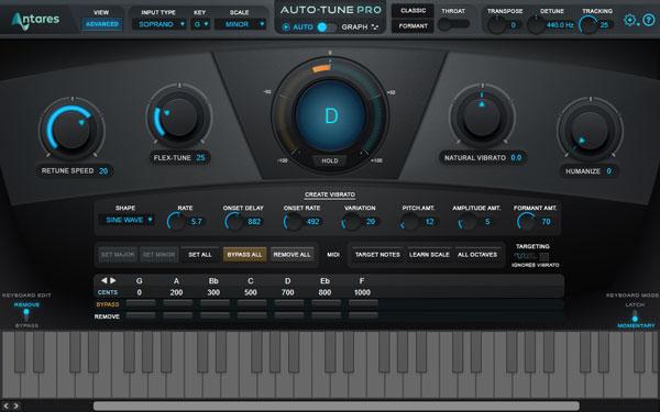 An image of Auto-Tune Pro's Create Vibrato section.