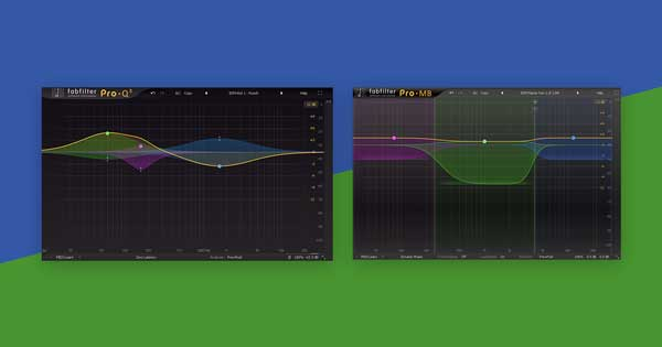 A dynamic EQ plugin and multiband compressor plugin.