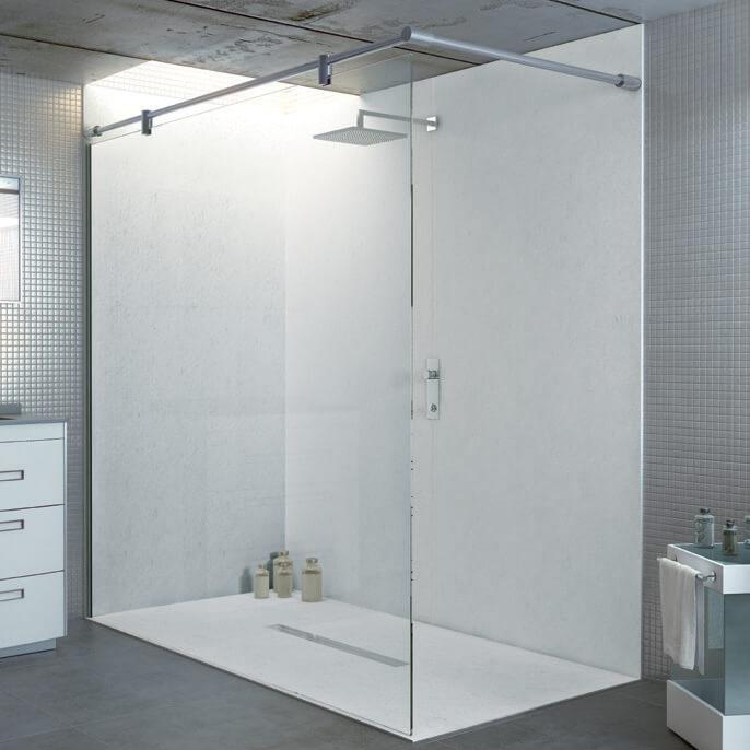 wandverglasung dusche. Black Bedroom Furniture Sets. Home Design Ideas