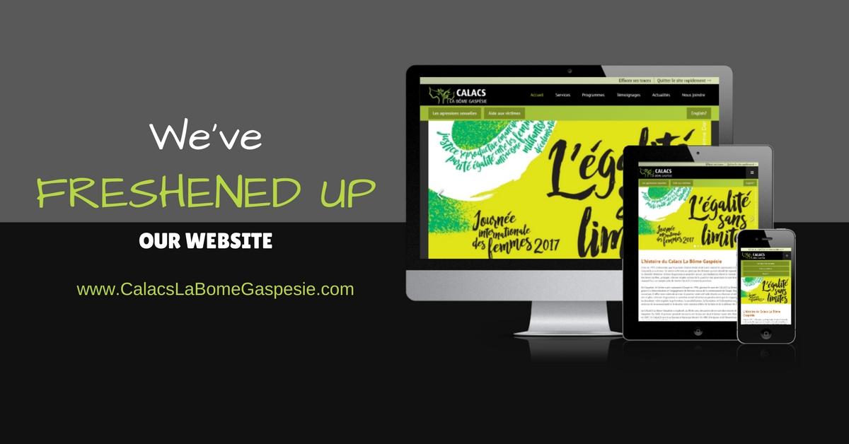 Nous avons rafraîchi notre site Internet