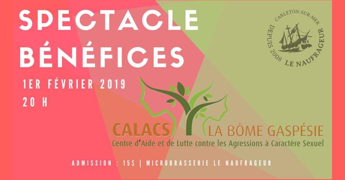 Spectacle bénéfice au profit du CALACS à Carleton-sur-Mer