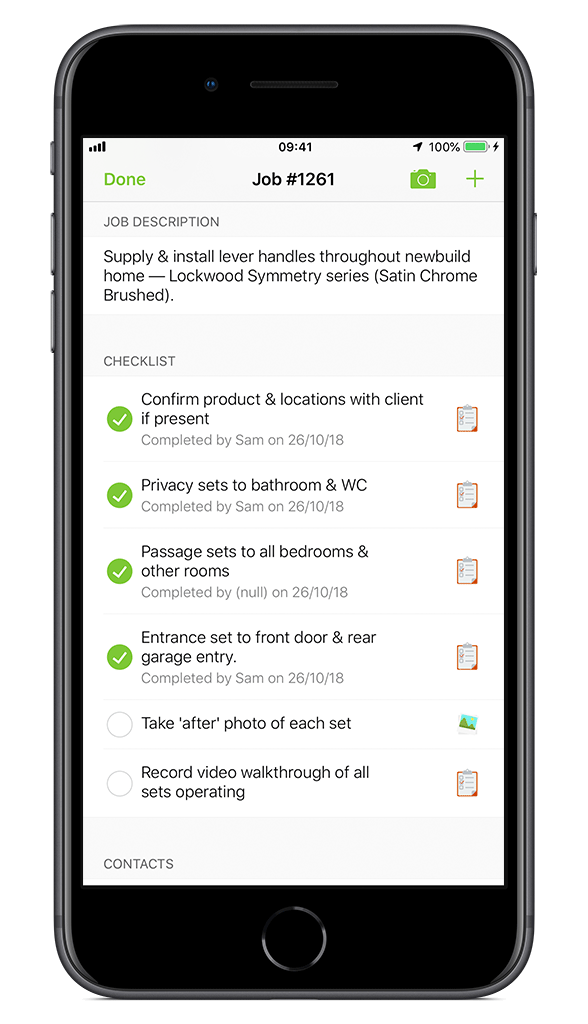 Locksmith Checklist