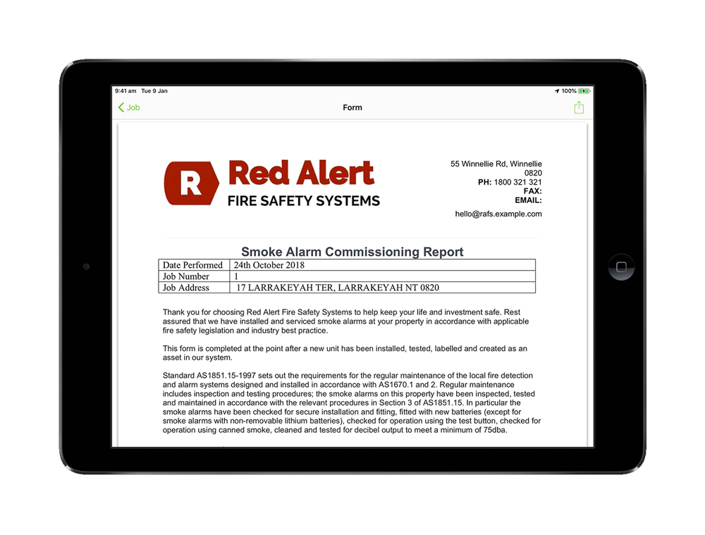 Online Fire Safety Job Report