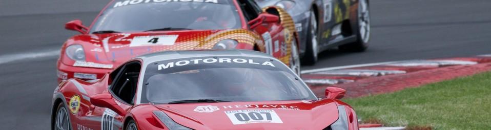 Ferrari racing on race track
