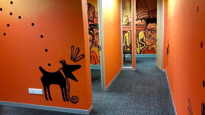 Ruckus wireless office mural art decor sweetooth graffiti artists johannesburg