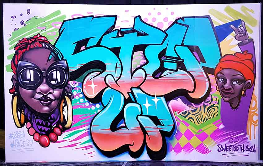 graffiti canvas sweetooth artists