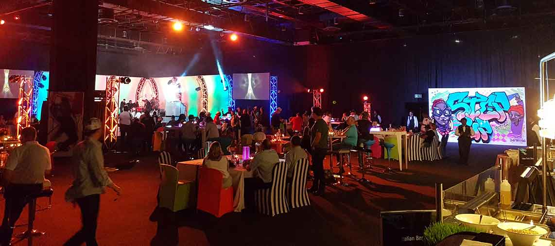 live graffiti painting for Mercedes Benz stup-up event at Sandton Convention Center