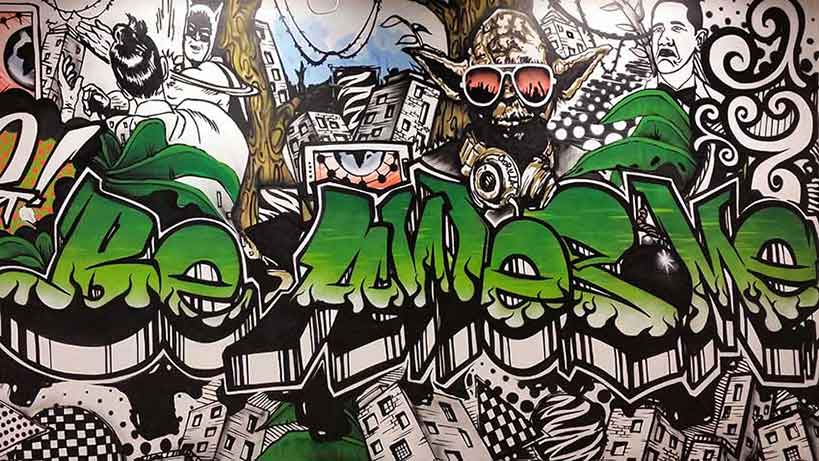 be awesome office mural gorilla media umhlanga by sweetooth graffiti artists