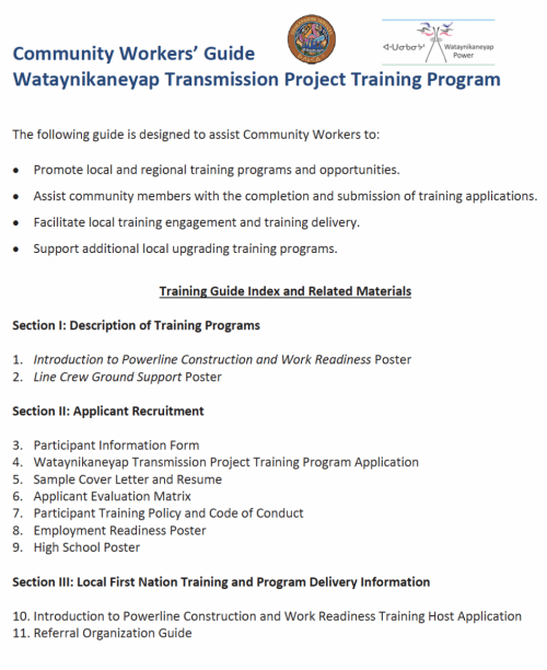Jobs & Training - Watay Power
